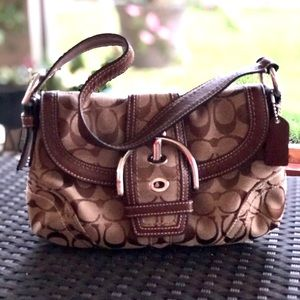 COACH Hobo With Signature C Print  #10296